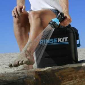 Rinse kits wash sand and dirt portable water great for RV, surf, paddle boarding.